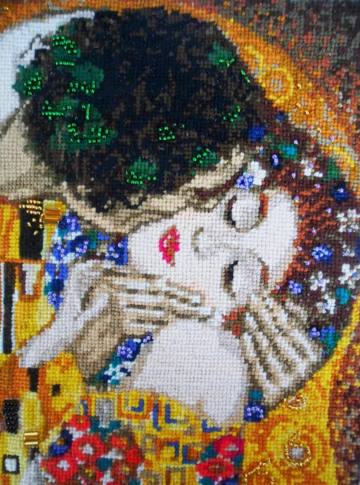 Вышивка г климт поцелуй 3
