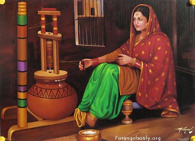 Rajasthani Girls Art Paintings 20