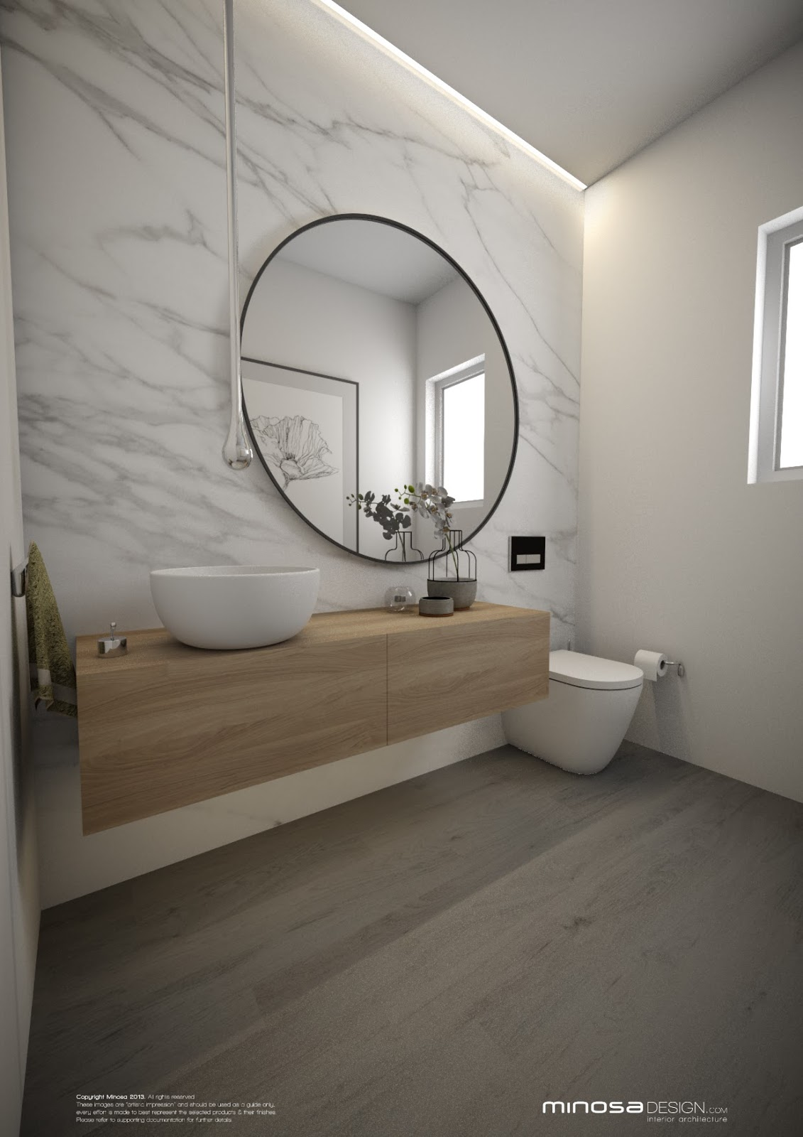 Minosa powder room the wow bathroom for Room design with bathroom