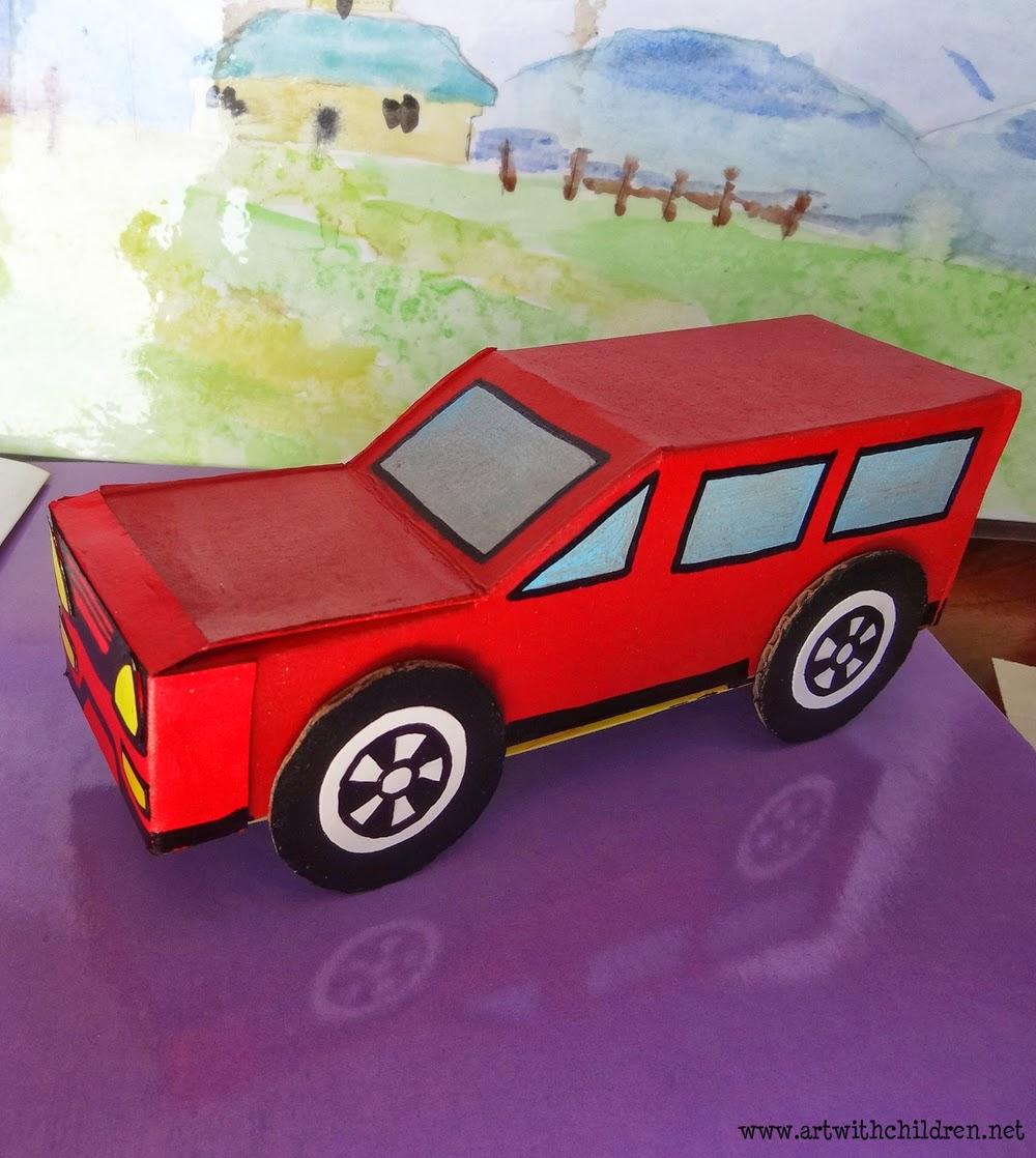 Cardboard box car for 2 5 box auto