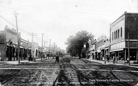Looking South On Pearl Street - Madison, Nebraska
