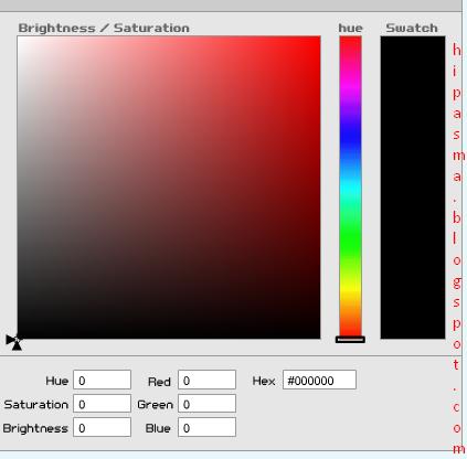 cara Pasang kode Warna HTML pada blog