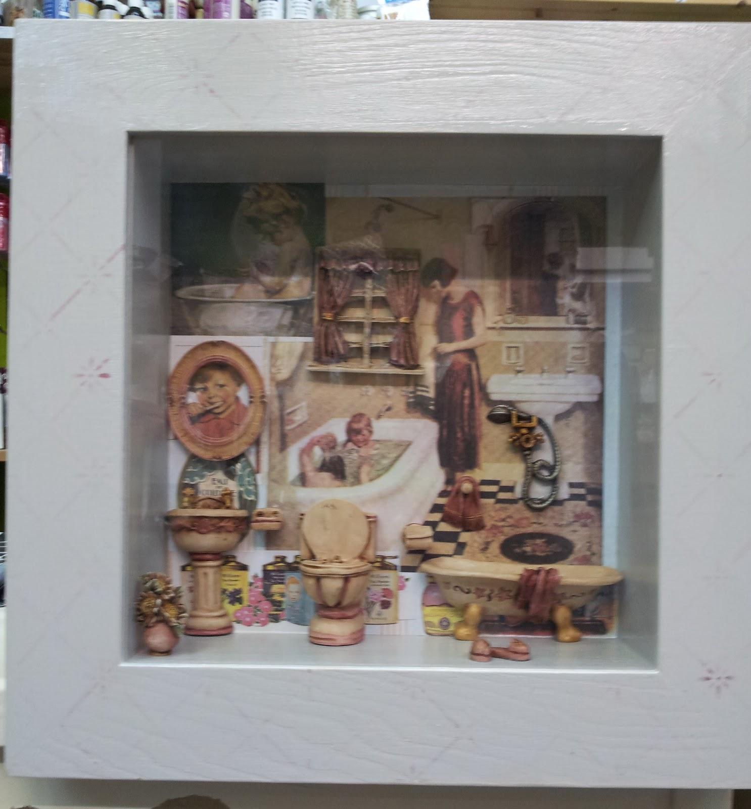 Ideas 10 manualidades y scrapbook cuadro para cuarto de ba o - Cuadros para el cuarto de bano ...