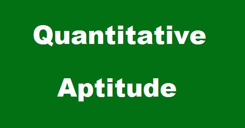Quantitative Quiz Questions - March 14, 2015