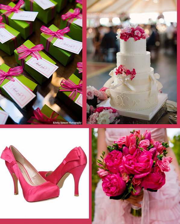 Hot Pink Wedding Theme Inspiration