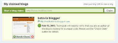 cara mendaftar dan claim technorati 4