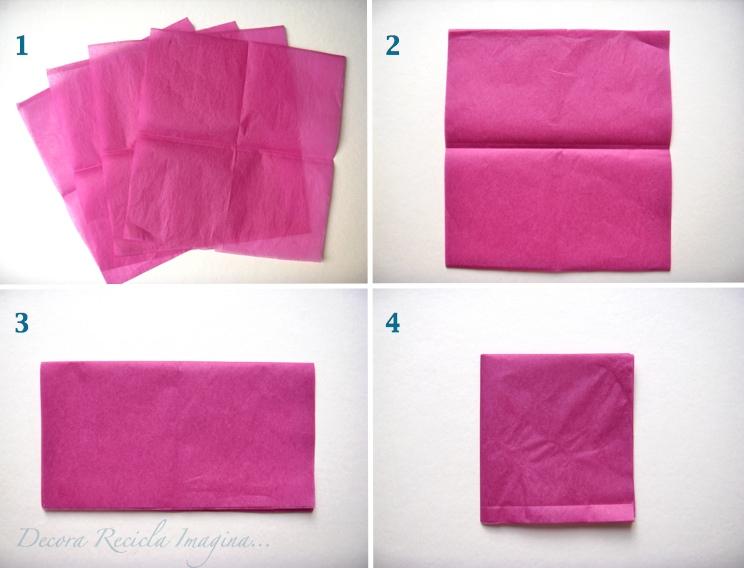 Como hacer pompones de papel paso a paso - Imagui
