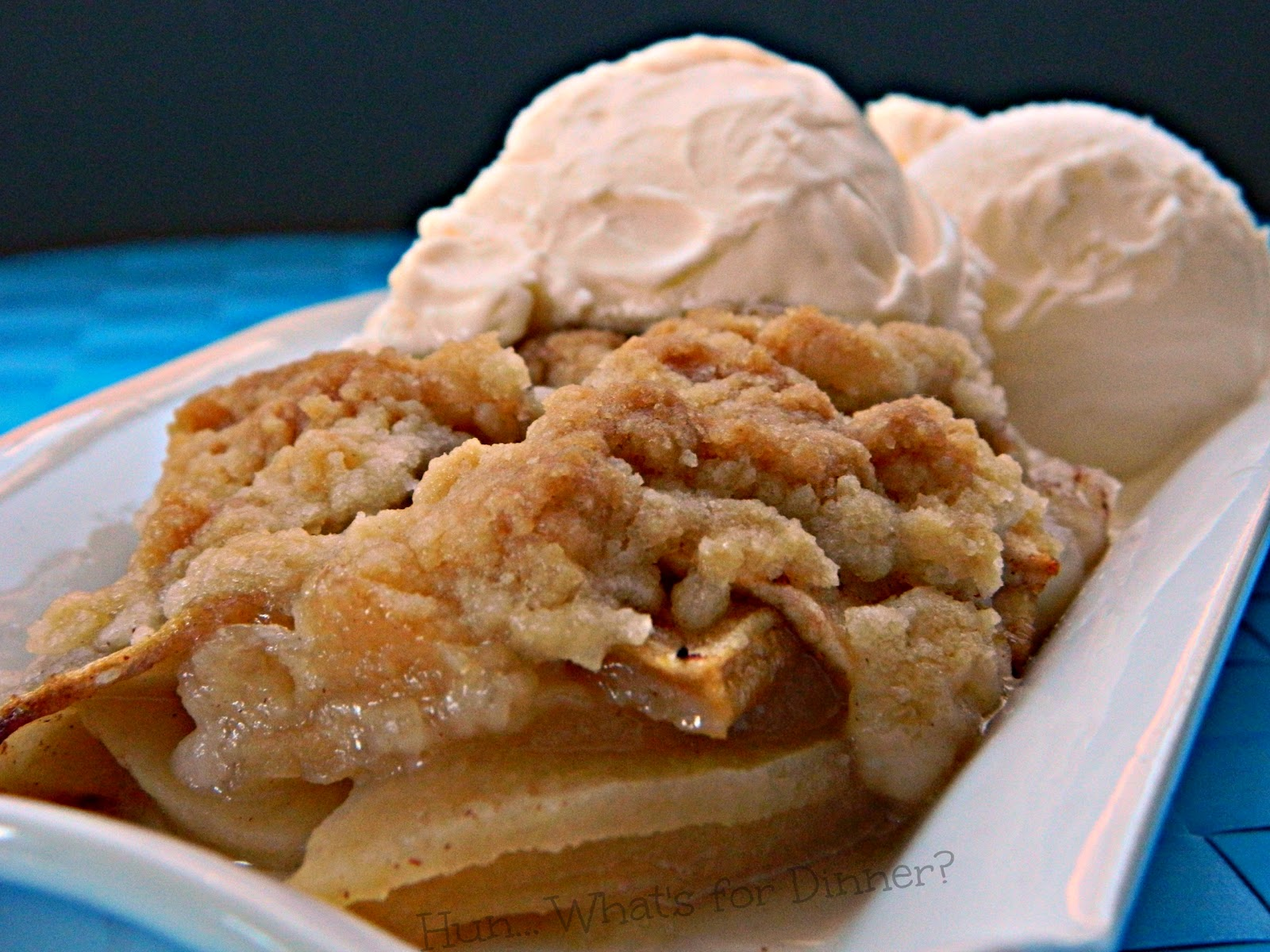 Hun... What's for Dinner?: Warm, spiced apples are baked until tender, beneath a crisp sweet crust, in this Simple Apple Crisp.