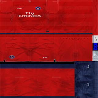 ... Kit Paris Saint Germain musim 2012 / 2013 by Kleber12 - PES 6
