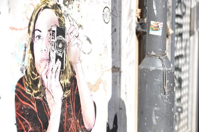 Redchurch Street photographer grafitti Shoreditch