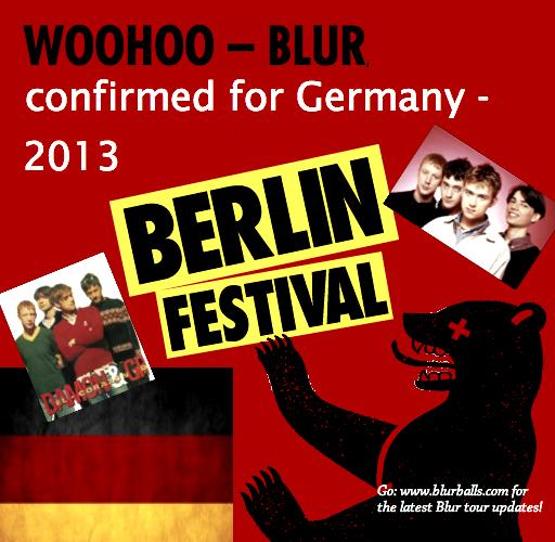 blur berlin festival 2013, berlin festival 2013 lineup, blur pet shop boys, blur gig 2013, blur germany 2013, blur germany, blur berlin, blur tour 2013, blur tour