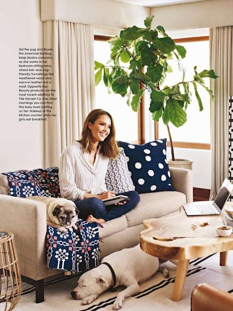 Female Magazine Cover Jessica Alba Better Homes And Gardens Us February 2016