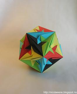 nicolae ene origami triakis icosahedron by byriah loper. Black Bedroom Furniture Sets. Home Design Ideas