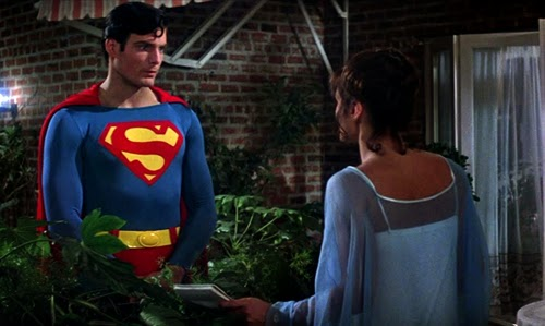 Superman y Lois Lane. Escena de la terraza en Superman (1978)