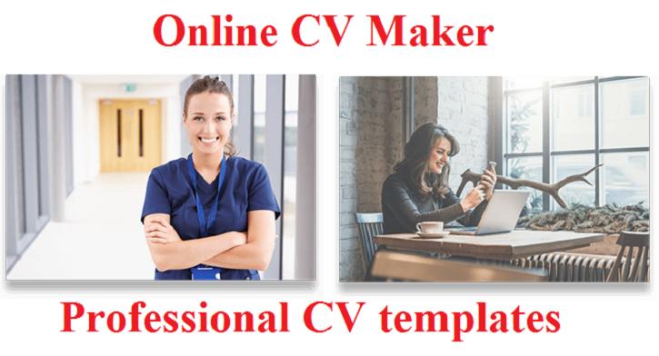 Online CV Maker/ Professional CV templates