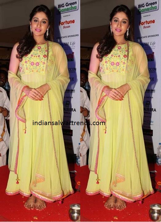 Regina in Yellow Salwar kameez