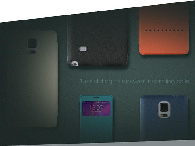 เคส Note 4 รับสายผ่านฝาพับได้เลย
