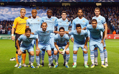 Liga de campeones Manchester City en Fútbol Soccer