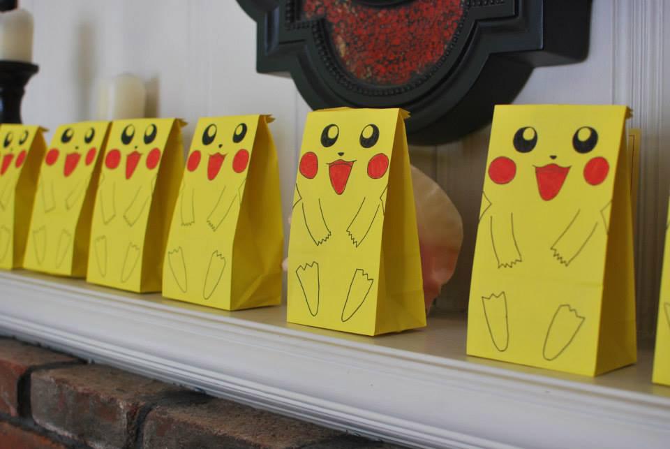 Zakka life pokemon birthday party for Bag decoration games