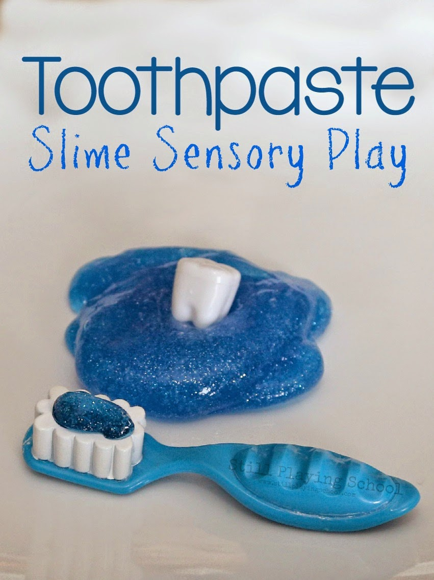 Toothpaste slime for dental health month still playing school if you click through to amazon from this page and purchase anything we will get a small profit for referring you without any additional cost to ccuart Image collections