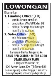 Lowongan Kerja BANK Terbaru Juni 2015, Lowongan Kerja Lampung terbaru Juni 2015