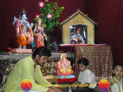 Ganesha In Incarnation Of Radha Krishna Images