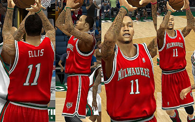 NBA 2K13 Milwaukee Bucks Red Alternate Jersey Patch