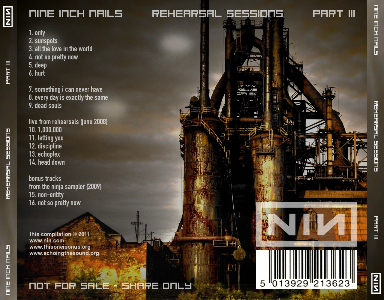 DARK CIRCLE ROOM: RE-UPLOAD: Nine Inch Nails - Rehearsal Sessions (MP3)