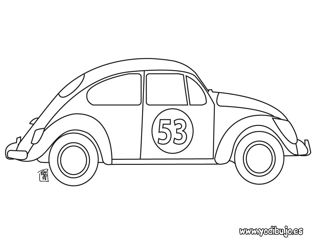 LAMINAS PARA COLOREAR - COLORING PAGES: Autos para colorear