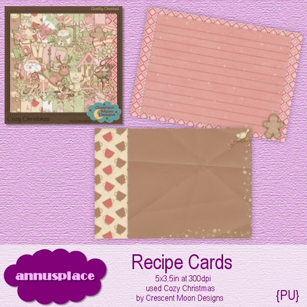 Preview of Recipe Cards Freebiee