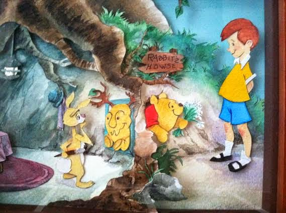 winnie the pooh stuck in rabbit's hole