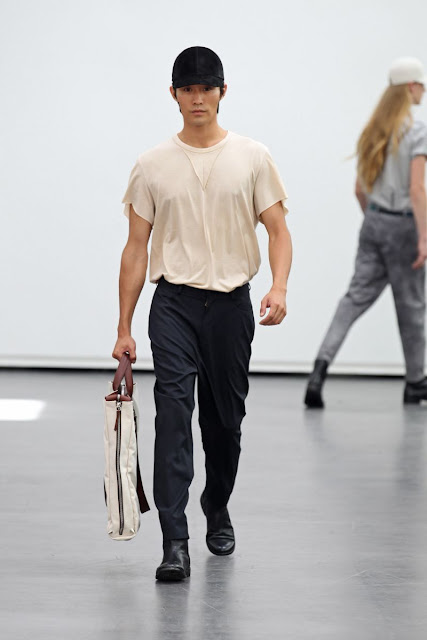 Models on runway S/S 2013 Menswear Tillmann Lauterbach