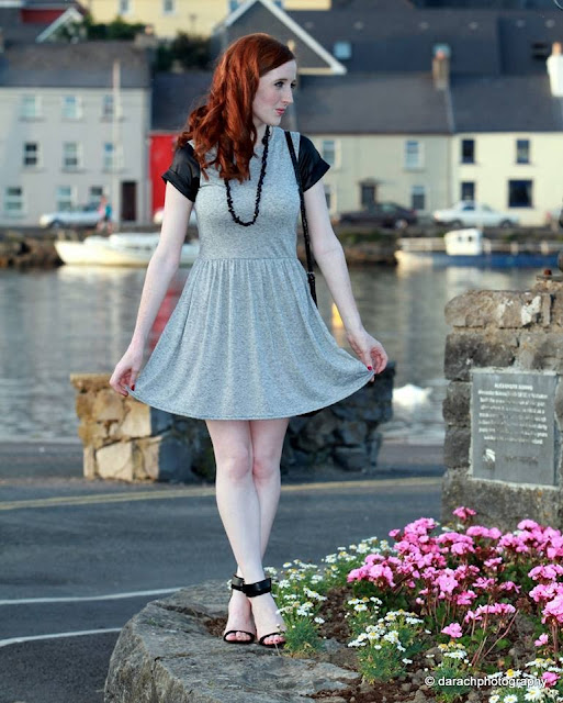 Grey Skater Dress Miss Luxe Blog Review