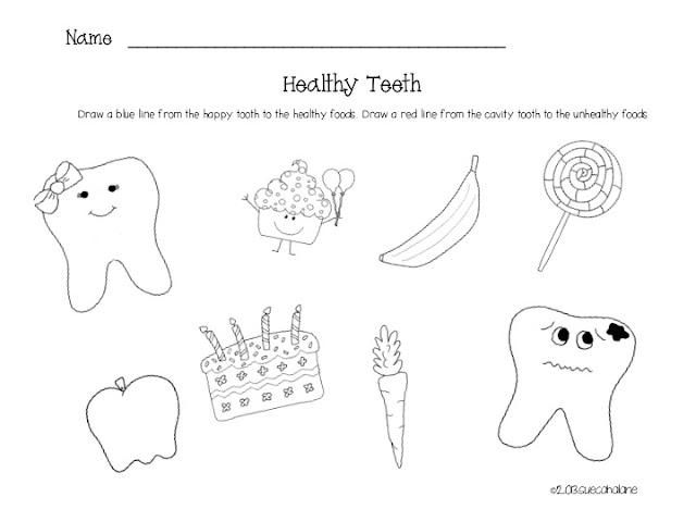 Healthy Tooth Worksheet