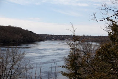 looking downstream toward Stillwater on the St. Croix