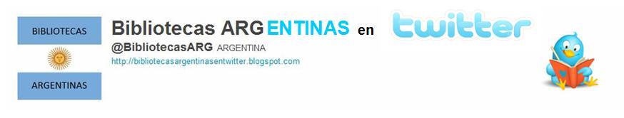 Bibliotecas Argentinas en Twitter