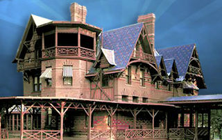 photo of The Mark Twain House, Connecticut history, Samuel Clemens