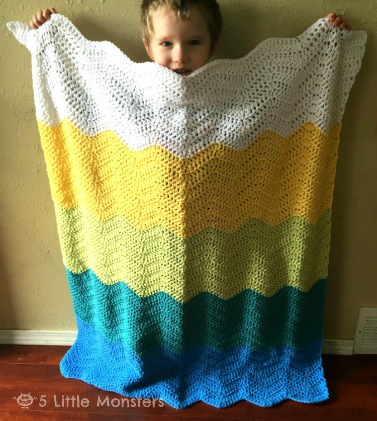 how to make a crocheted ripple blanket