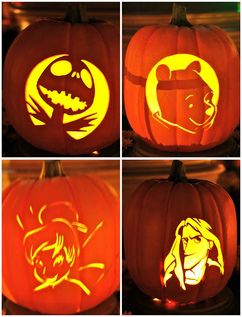 Disney sisters pumpkin carving style