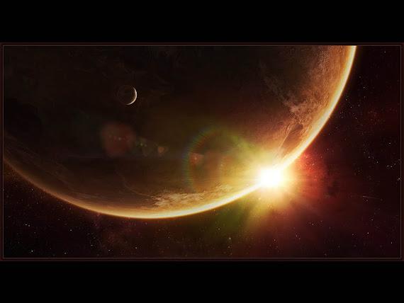 gambar matahri terbit, gambar luar angkasa, horizon matahari