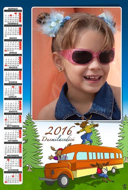 maschere per calendari 2016