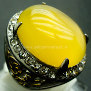 Cincin Batu Permata Yellow Calchedony Cat Eye - Sp769