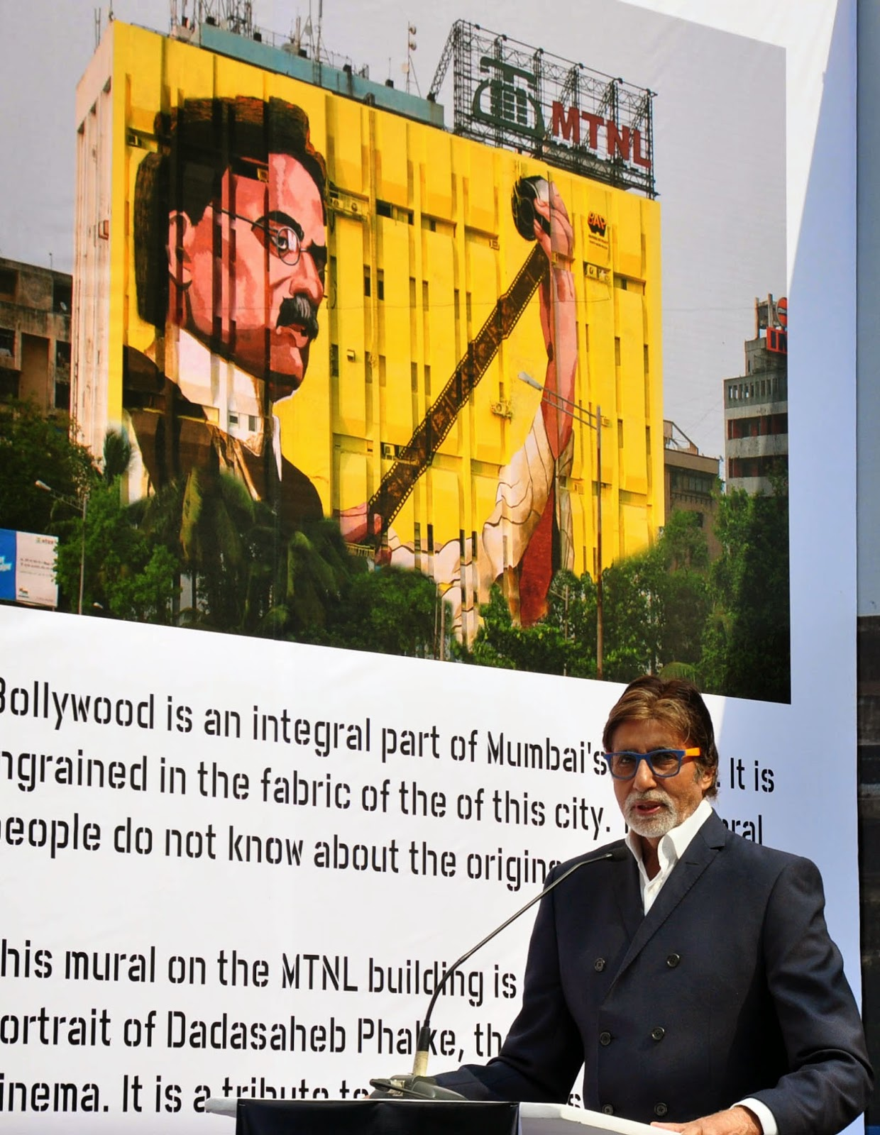Amitabh Bachchan unveiled the mural of the father of Indian Cinema Dadasaheb Phalke in Mumbai