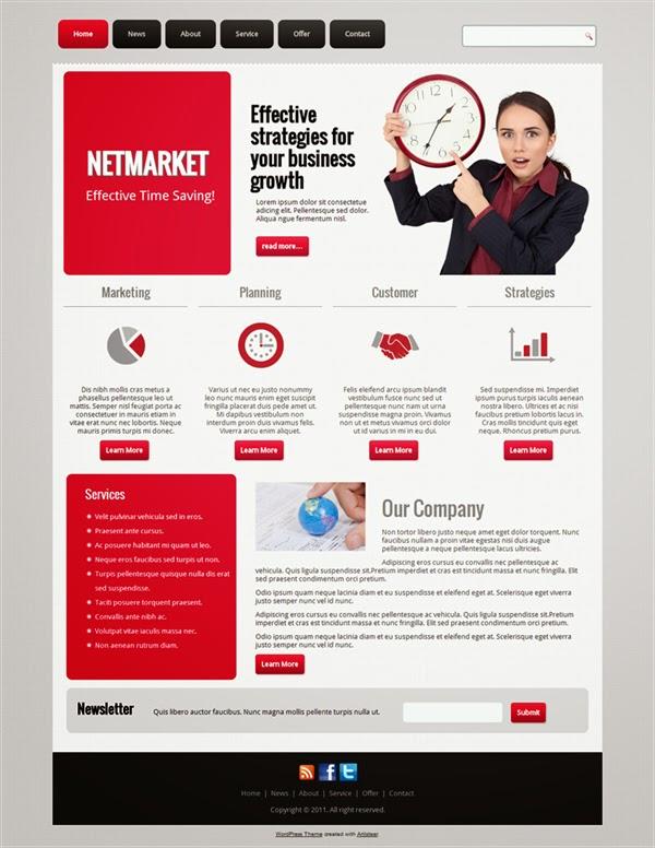 Netmarket - Free Wordpress Theme