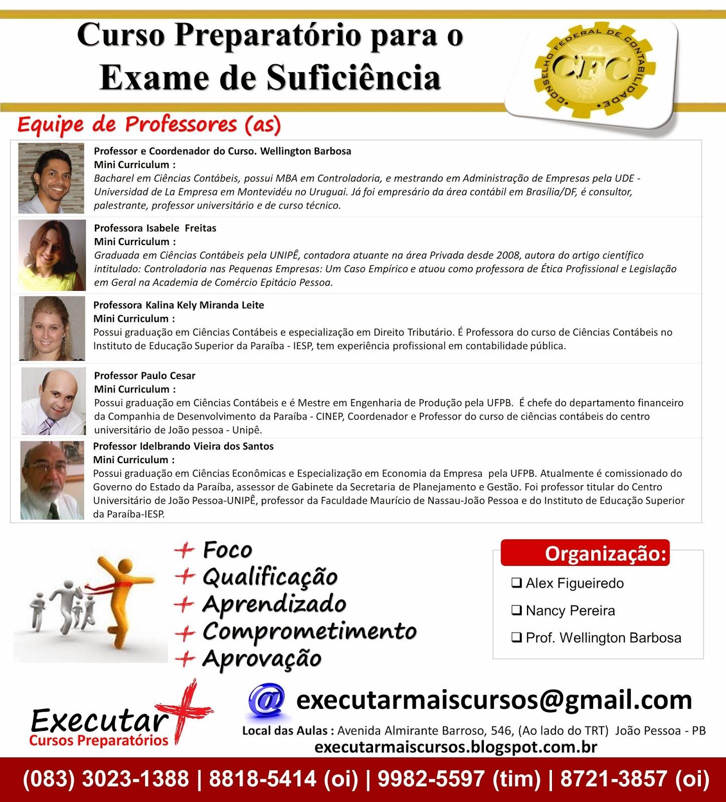 Curso online exame de suficiencia