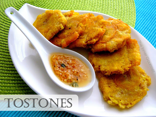 The Inner Gourmet: Tostones with a Garlic Dipping Sauce