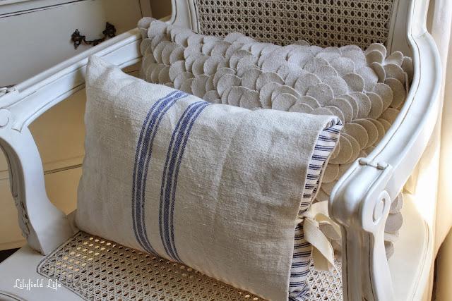 grain sack french cushion