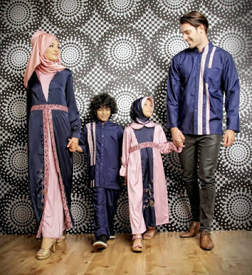 Ide Baju Muslim Sarimbit Keluarga Style Fashion Lebaran