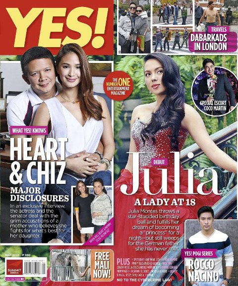 Julia Montes and Heart-Chiz Controversy on YES! Magazine May 2013 Issue