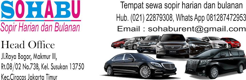Jasa Supir Jakarta Tangerang Bogor Bekasi